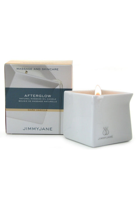 Afterglow Natural Massage Oil Candle in Dark Vanilla