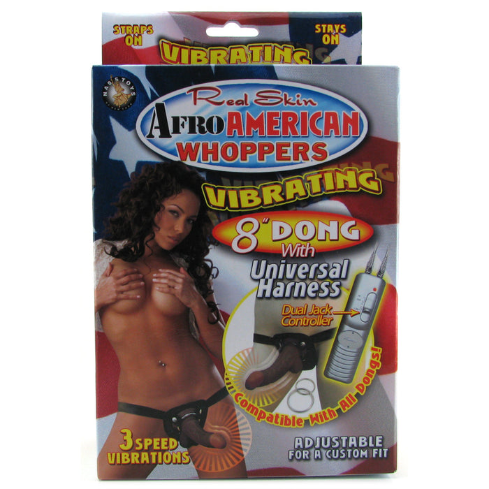 Afro American Whoppers 8 Inch Vibrator with Harness