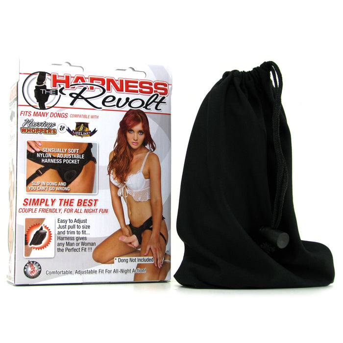Harness the Revolt Couple Friendly Strap-On in Black