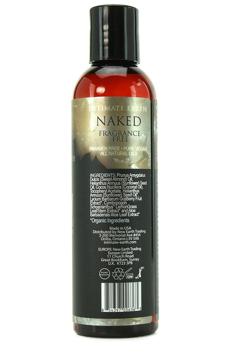 Naked Fragrance Free Massage Oil in 4oz/120ml