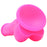 Colours 7 Inch Firm Silicone Dildo in Pink