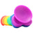 Colours Pride Edition 5 Inch Silicone Dildo in Rainbow