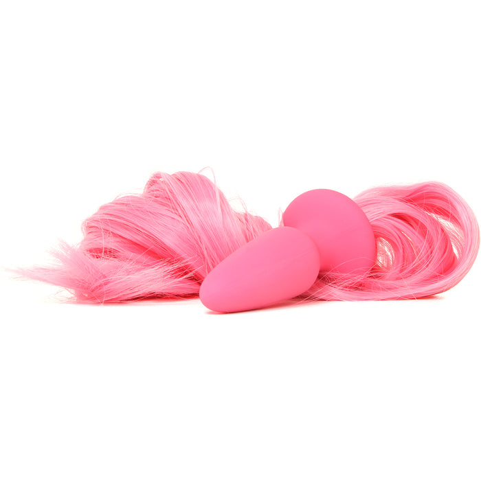 Unicorn Tails Silicone Butt Plug in Pastel Pink