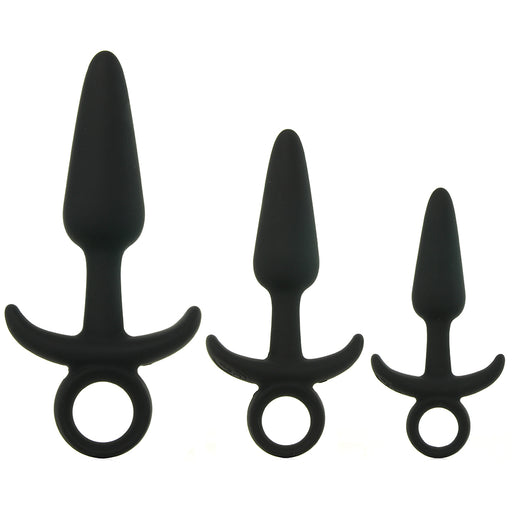 Men's Tool Kit Silicone Butt Plugs in Black