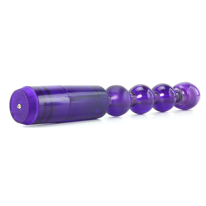 Waterproof Flexible Vibrating Anal Beads in Purple