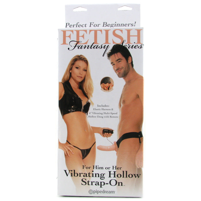 Fetish Fantasy Unisex Hollow Strap-On Vibrator in Flesh
