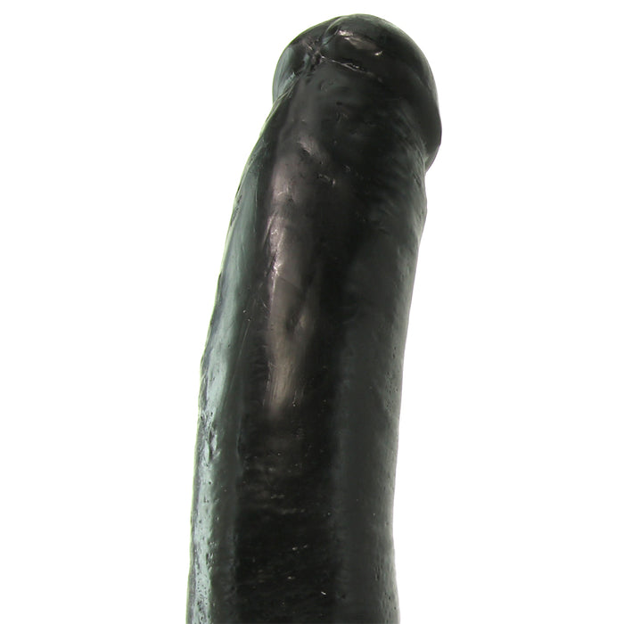 "King Cock 9"" Vibrating Dildo with Balls in Black"