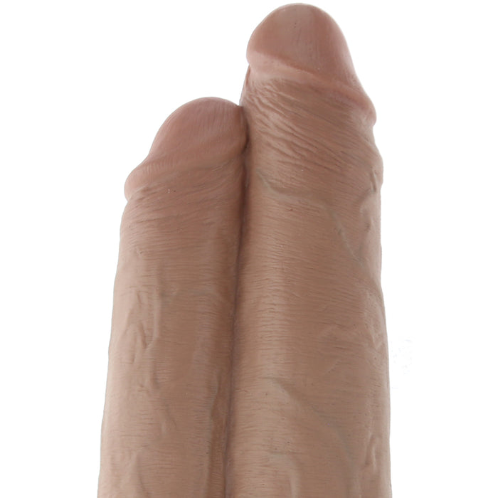 "King Cock 9"" Two Cocks One Hole Dildo in Caramel"