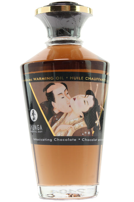 Aphrodisiac Warming Oil 3.5oz/100ml in Chocolate