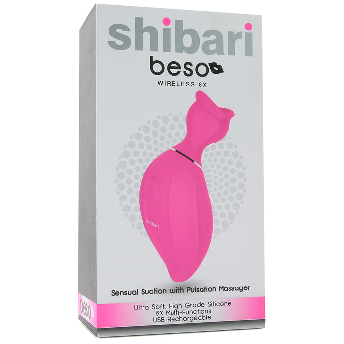 Beso Sensual Suction Clitoral Massager in Pink