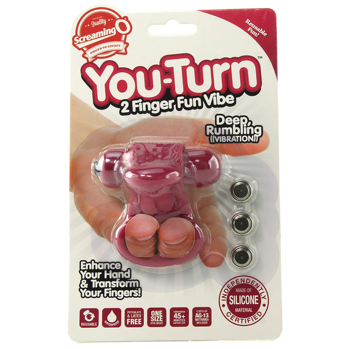 You-Turn 2 Finger Fun Vibrator in Merlot