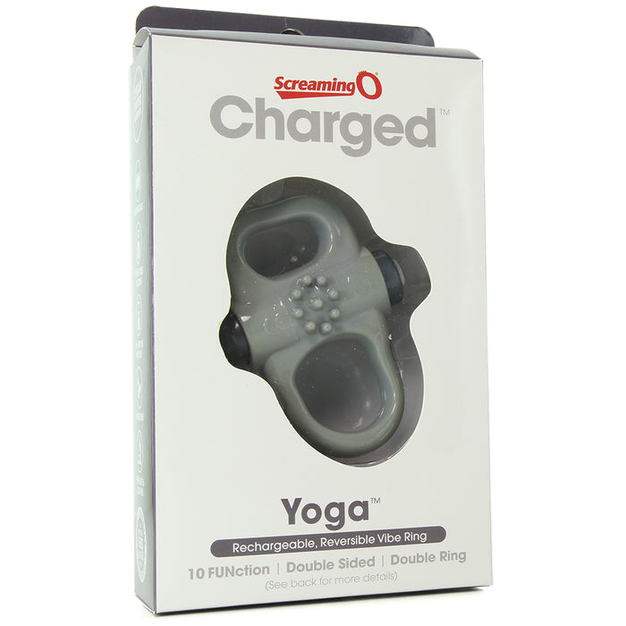 Charged Yoga Reversible 10X Ring Vibrator in Grey