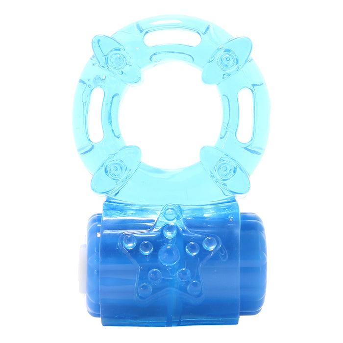 BigO Rechargeable Vibrator Ring in Blue
