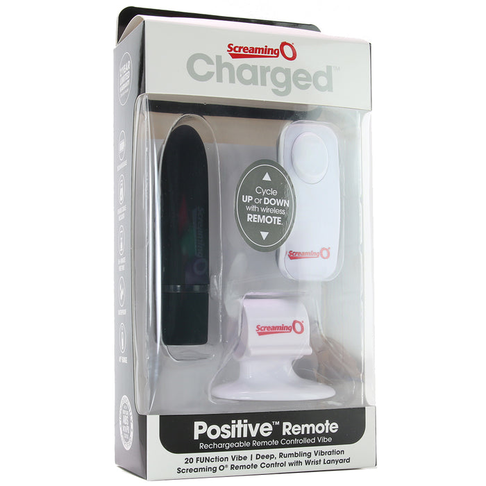 Charged Positive Remote Bullet Vibrator in Black