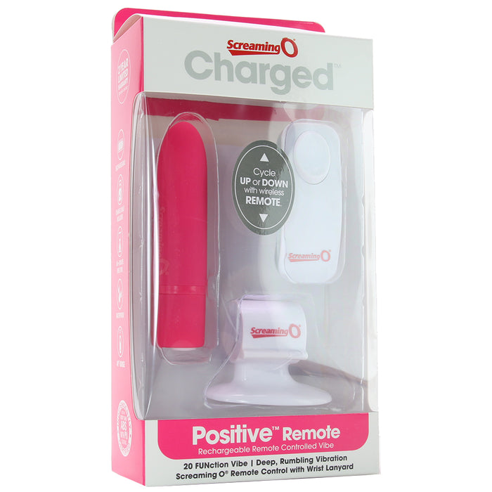 Charged Positive Remote Bullet Vibrator in Pink
