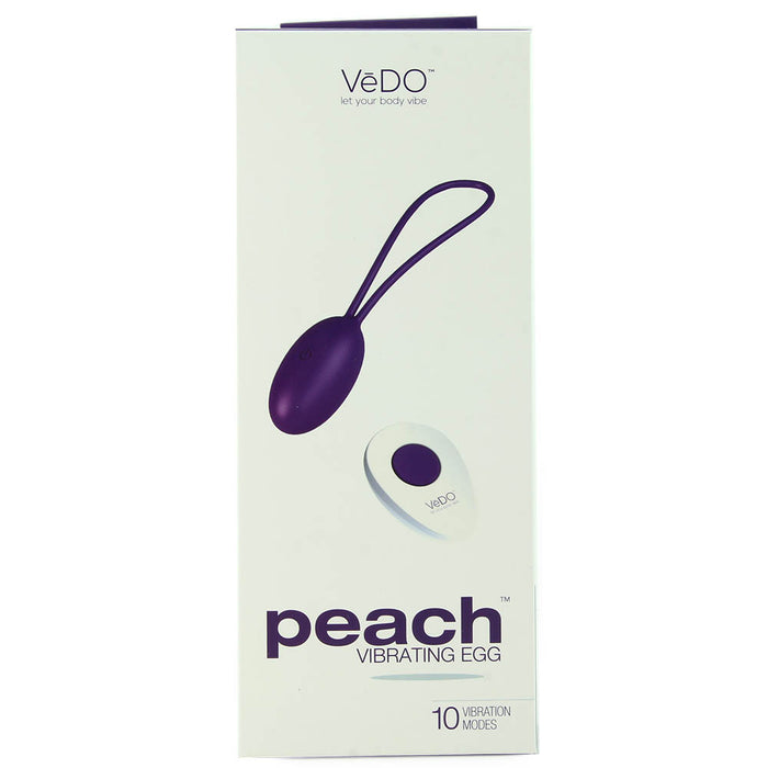 Peach Remote Vibrating Egg in Into You Indigo