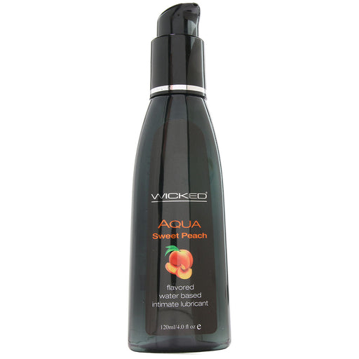 Aqua Sweet Peach Flavored Lube in 4oz/120ml