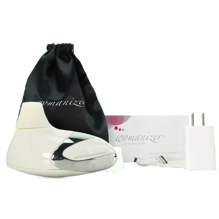 Deluxe Pro W500 Sensual Massager in White/Chrome