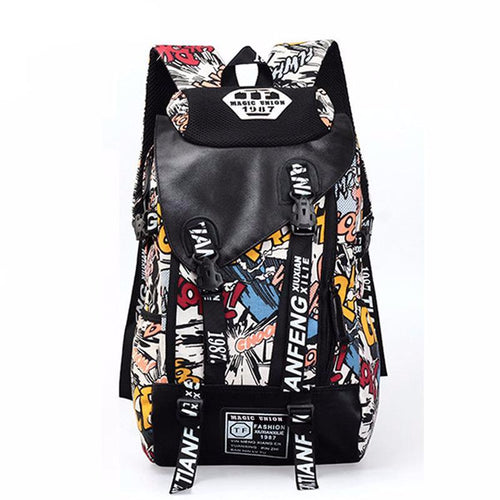 Graffiti Style Men's Fashion Backpack