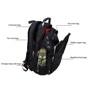 Medium Polyester Waterproof Computer Backpack With Lock Raincover