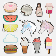 Cute Cartoon Unicorn Ice cream Cupcake Mini Bags New Look Fruit Funny Clutch Shape Laser Diamond Shiny Purse