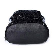 Big Crown Embroidered Sequins Women PU Synth Leather Backpack School Bags