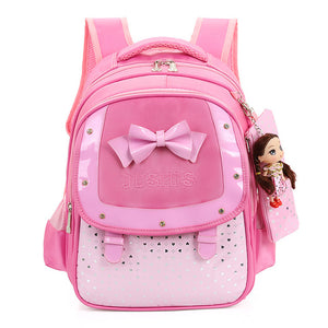 Bow w/ Doll Girl Waterproof Backpack