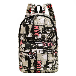 13 Styles! Palm Trees, Cool Cats, Love NYC Print canvas bags retro casual school travel bags