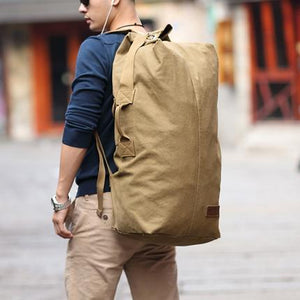 Canvas Large Capacity Multifunctional Travel Duffle Rucksack Style Backpack