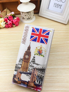 Vintage Pattern Paris London America Artistic Love Letter Styled Wallet