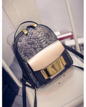 Snake PU Synthetic Leather Women Backpack Female Fashion Rucksack Brand Designer Ladies Back Bag