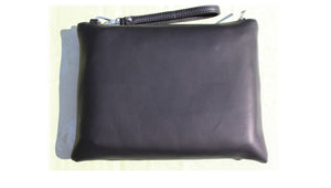 Envelope purse evening PU Synth leather large wristlet day clutch