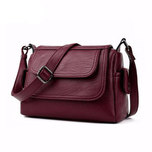5 Colors Crossbody Shoulder PU Synth Leather Bag