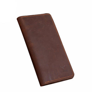 Long Style Genuine Leather Men's Wallet