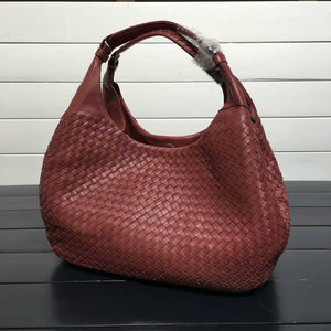 Exquisite Handmade Weave Leather Lambskin Elegant Lady Shoulder Bags Casual Totes