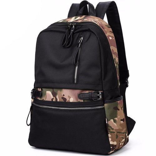 Oxford Men's Multi-Interior Pocket Fashion Waterproof Backpack