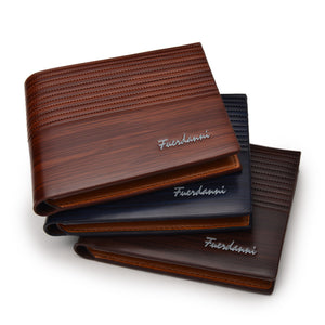 Textured Wood Look Slim and Compact Wallet