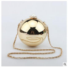Pearl Evening Bag Luxury Diamonds Evening Clutch Bags Ball Round Globe Crystal Beads