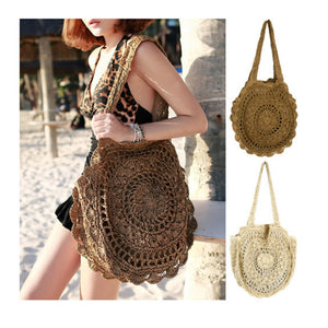 Bohemian Straw Tote Style Shoulder Bag