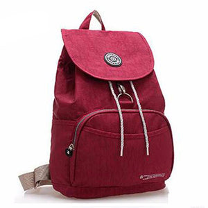 Casual Canvas Style Waterproof Nylon 10 Colors Backpack