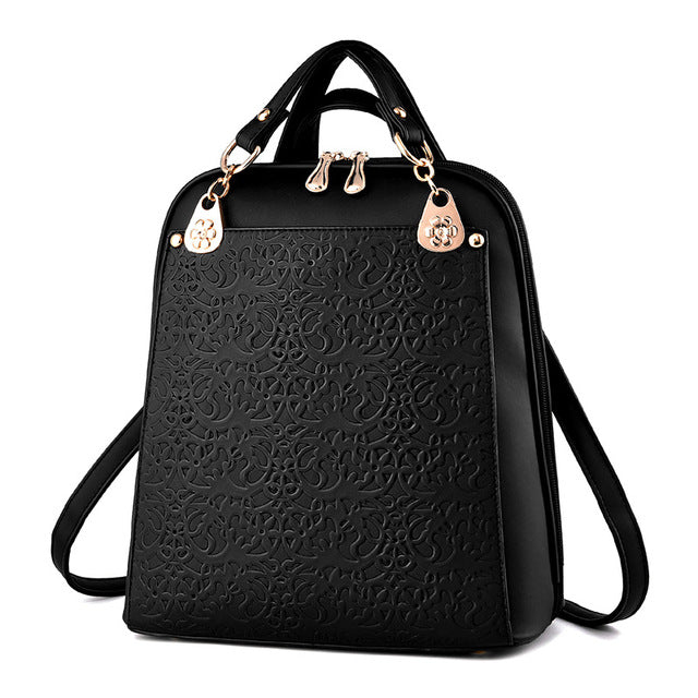 Oxford Embossed Fashion Backpack