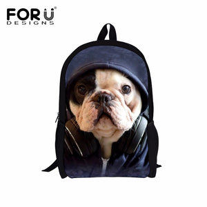 29 Dogs, Cats, Animals Prints + Send Your Own Image. Cute 3D Backpacks for Teenage Travel Bags