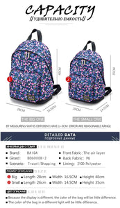 Flower Colorful Fashion Backpack - 2 Sizes