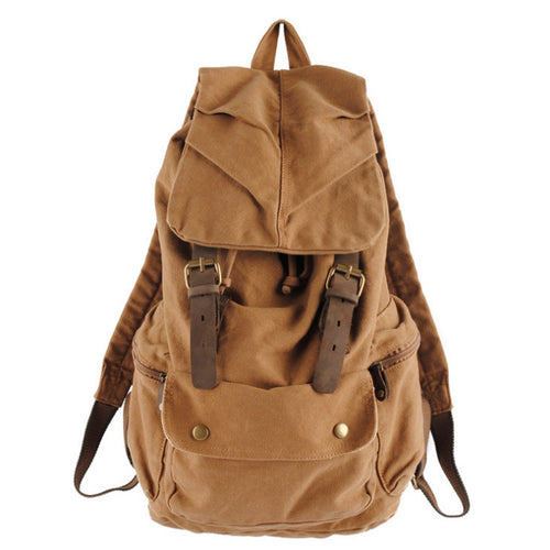 Men's Vintage Rucksack Satchel Style Backpack