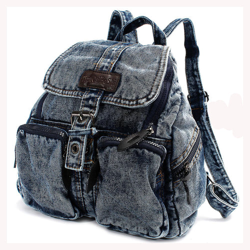 Denim Fashion Small Backpack