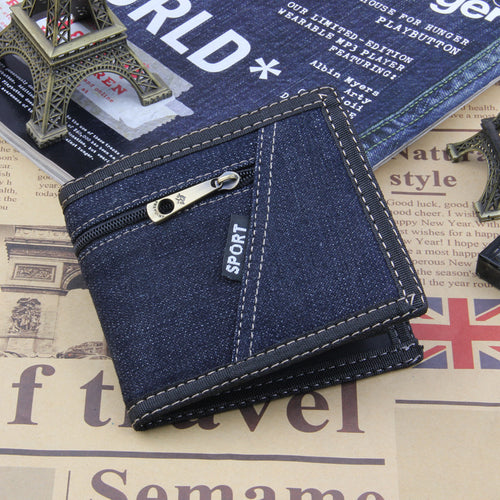 Denim Pocket Jean Style Canvas Multifunction Wallet