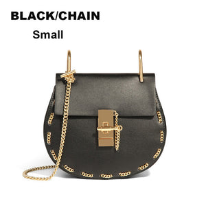 Classy and Simple Genuine Leather Chloe Shoulder Crossbody Small Chain Bag
