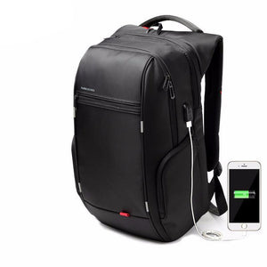 Nylon Anti-theft kingsons External USB Charge 13 15 17 inch Waterproof Laptop Backpack