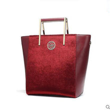 Chinese Classic Design Split Leather Tote Style Handbag