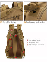 Military Style Canvas Trekking 40L Backpack